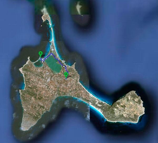 MEDIA MARATON FORMENTERA mapa-8km